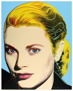 Andy Warhol - Grace Kelly Original 1984 Hand Signed Serigraph on paper