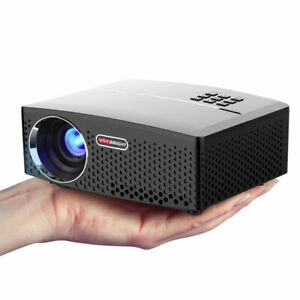 2019 Mini 4K HD Portable 3D Home Theater Projector LED Cinema HDMIVGAUSBSD US