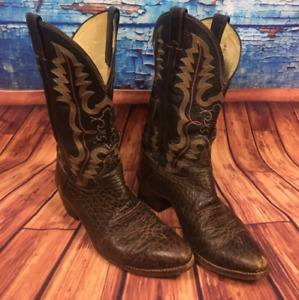 Justin 2222 Rick Grimes The Walking Dead Boots Western Cowboy TWD Cosplay Rare