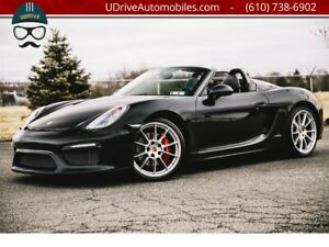 2016 Boxster Spyder Full Bucket Seats Sport Tailpipes Full Carbon Bucket Seats Black over Black Sport Tailpipes