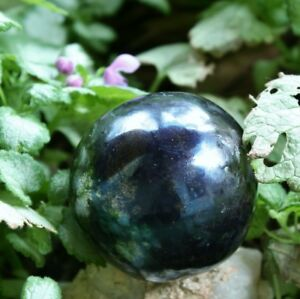 COVELLITE Polished Sphere With Pyrite Peru 293.9g 2.14