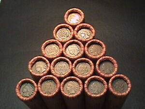 1800#x27;S 1900#x27;S INDIAN HEAD WHEAT PENNY ROLLS FROM ESTATE LOT SALE