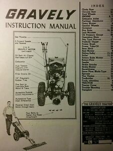 Gravely L LI LS Walk-Behind Garden Tractor Owner Operating & Parts Manual 1955