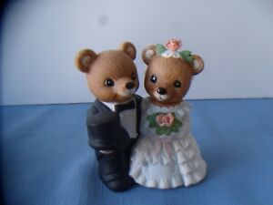 BRIDE AND I GROOM WITH FLOWERS REALLY CUTE CAKE TOPPER OR DECOR