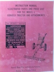 Gravely L LI LS Walk-Behind 2-Whee Lawn Garden Tractor Owner & Parts Manual 1951
