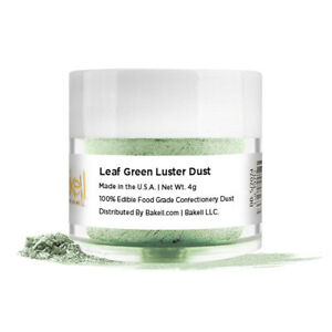 Bakell™ Spring Leaf Green Edible Luster Dust 4g Food Grade Pearlized Decorating