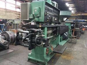 """Refurbed 6"""" NRM Pacemaker III Single Extruder with Strand Pelletizer for PS"""