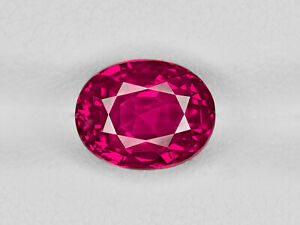 Ruby - 4.12 ct - Burma - Oval - with SSEF certificate