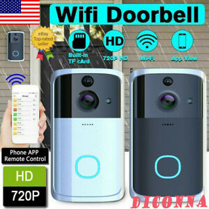 US Smart Video Wireless WiFi Door Bell IR Visual Camera Record Security System