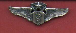 Full size three inch Command or Chief Flight Surgeon Wings Badge