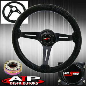 Neochrome Slim Quick Release + Steering Wheel Black Center Metallic Black Wood