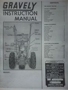 Gravely L LI LS 2-Wheel Garden Tractor Owner Operating & Parts Manual 28pg 1964