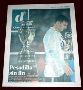 MESSI - FINAL COPA AMERICA 2015 CHILE vs ARGENTINA newspaper