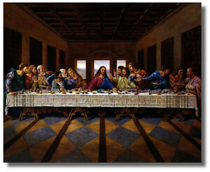 Jesus Christ Last Supper Religious amp; Inspirational Wall Art Print Picture $12.75