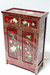 oriental furniture cabinet cupboards credenza burgundy lacquer cabinet
