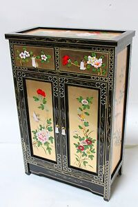 oriental furniture cabinet Chinese cabinet gold leaf lacquer cabinet