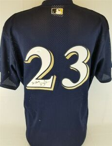 Rickie Weeks quot;To: Andyquot; Signed Milwaukee Brewers Majestic Mesh MLB Jersey JSA $129.95