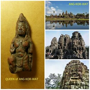 ***QUEEN of ANG-KOR-WAT TOP AMULET of THAILAND (of ASIA) Buddha Statue Pendant