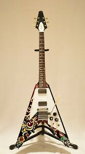 Gibson Custom Shop Flying V Hendrix Psychedelic #006 2005 Painted Psychedelic