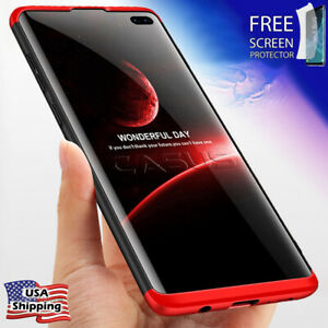Thin Shockproof Slim Case + Screen Protector For Samsung Galaxy S10S9S8 Plus