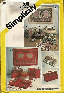 Simplicity 5311 Quilted Sewing Accessories amp; Wall Hangings Pattern Uncut $9.99