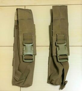 (10) Ten NEW MOLLE Ground Illumination FLARE POUCH Pop Up Coyote 425COY
