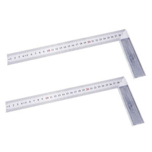 2x Steel L Square Angle Ruler 90 Degree Ruler for Woodworking Carpenter Tool $11.09