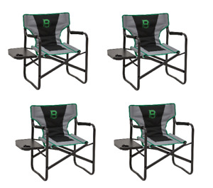 BC104 Barronett Blinds Hunting Gear Directors Chair With Table 4 Pack Case Lot