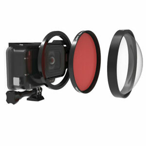 24X Close-up Magnifier Macro Red Lens Filter Kit 58mm For GoPro Hero7 6 5 Camera