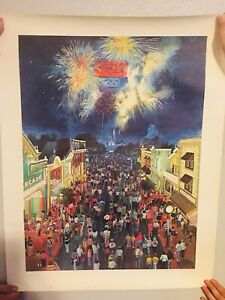 1984 Disneyland USA OLYMPIC NIGHT Lithograph #25325000 with COA - DISNEY ART
