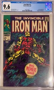 IRON MAN #1 CGC 9.6 Avengers Hulk Thor Cap America Key Investment