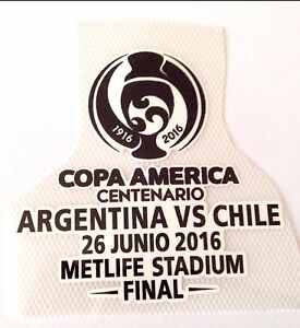 Argentina VS Chile 2016 COPA AMERICA FINAL Soccer Match Transfer Details Logo