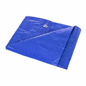 Waterproof Lightweight Blue Multipurpose Poly Tarp - Woven Polyethylene