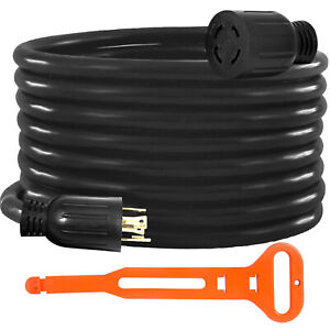 Generator Extension Cord 20 Ft 4 Prong Power Cable 10 Gauge 30 Amp Adapter Plug