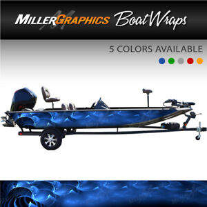 Ripple Boat Wrap Kit 3M Cast Vinyl Graphic Decal Abstract - 6 Sizes 5 colors