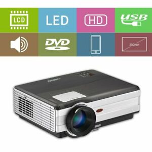 LCD Multimedia 1080P Projector Home Theater Backyard Movie Video HDMI USB 4000LM