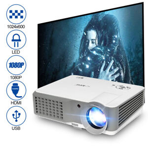 LED HD Video Projector Multimedia Home Theater TV Game Party Projection HDMI VGA