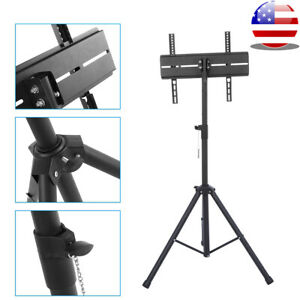 Tripod TV Display Portable Floor Stand Height Adjustable Mount for 26