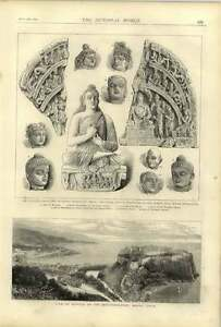 1874 Dr Leitner Collection Ancient Sculptures View Over Monte Carlo Fusiliers Go GBP 9.00