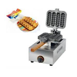 New Commercial Non-stick LPG Lolly Waffle Maker Baking Machine 4pcstime