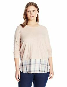 Two by Vince Camuto Women's Plus Size Long Sleeve  - Choose SZcolor