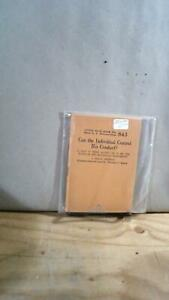 Clarence DARROW Little Blue Book No 843 Can the Individual Control His