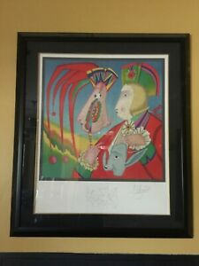 MIHAIL CHEMIAKIN LE MASQUE DE CARNIVAL 1995 SIGNED LITHOGRAPH 3 200 AND FRAMED $849.00