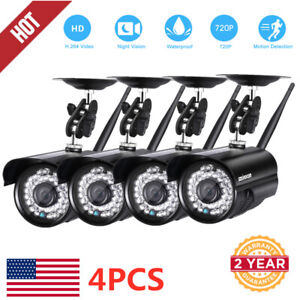 Wireless Security Camera System (124Pack) Smart 720P HD Outdoor WiFi IP Camera