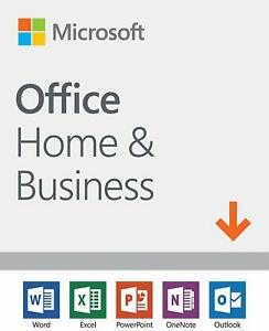 Microsoft Office Home and Business 2019  1 device Windows 10 PCMac Download