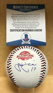 JOSE BERRIOS TWINS SIGNED UNDER LOGO 2018 ALL STAR BASEBALL BECKETT G92038 $69.98