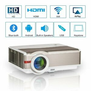 Android WiFi LCD Home Theater Projector Multimedia Video Game Party HDMI USB