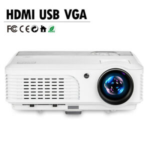 LED LCD Multimedia Home Theater Projector 1080p Video Movie Game HDMI VGA USB