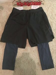 Nike Tech Pack 2in1 Running Shorts Men's Medium $100 Gray M lab acg Compression