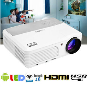 5000LM LCD Bluetooth Android WiFi Projector Airplay HDMI VGA TV Home Cinema